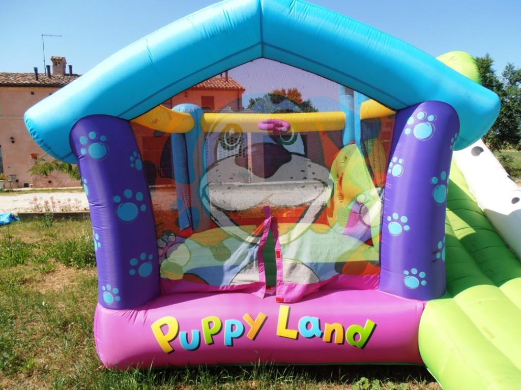 Noleggio affitto gonfiabili per bambini compleanni feste perugia umbria mod Cucciolandia prezzo affitto