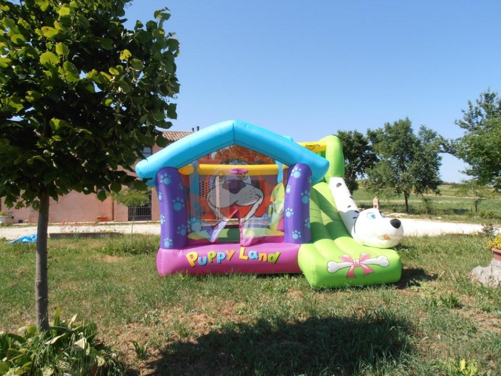Noleggio affitto gonfiabili per bambini compleanni feste perugia umbria mod Cucciolandia prezzo